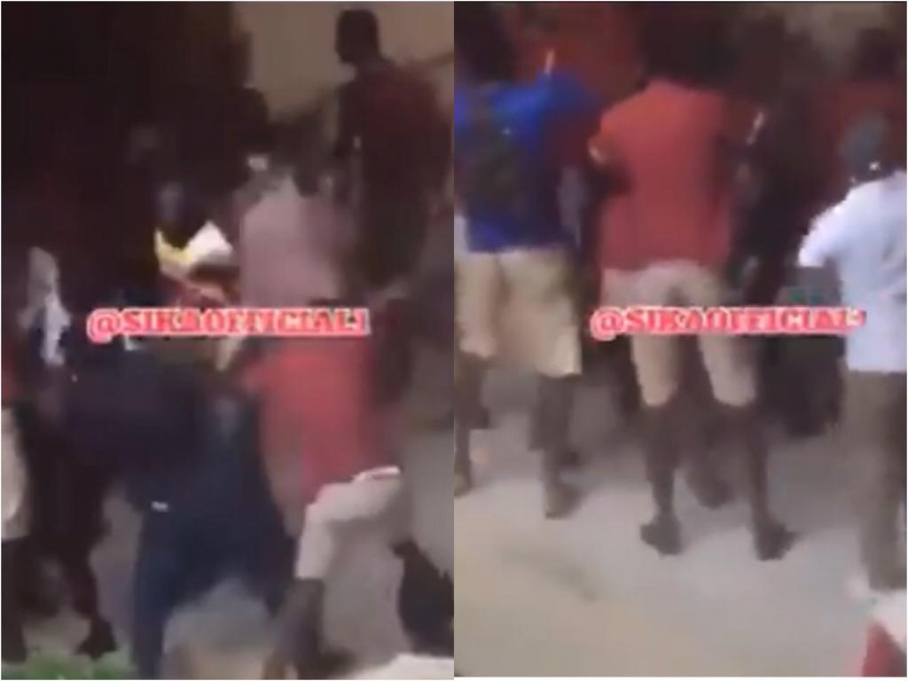 Students of Kwabenya Shs beat teacher for being strict on them during the WASSCE