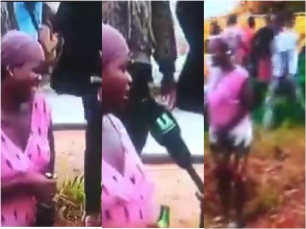 This Video Shows A Woman Drinking Bottles Of Beer After An Accident On The Tema Motorway (Watch)