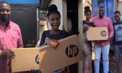 John Dumelo Fulfills Promise, Distributes Free Laptops To Students In Ayawaso West