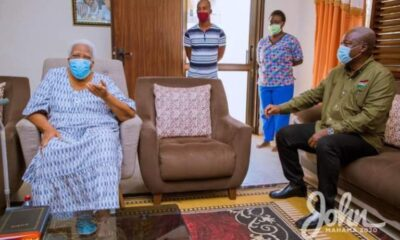 John Mahama Pays Visit Mother Of Late Amissah-Arthur, Receives Her Blessings For Victory: Photos