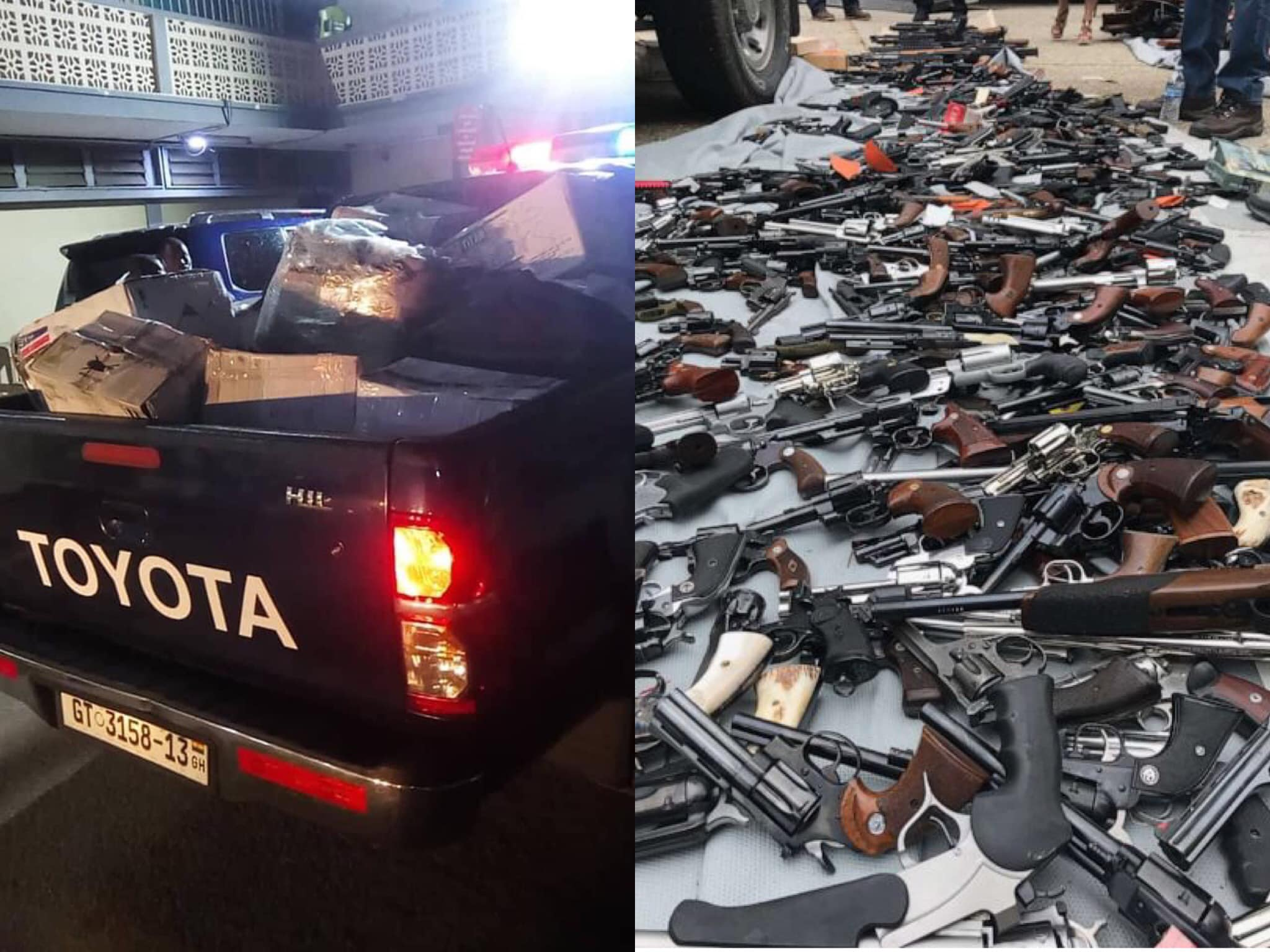Weapons seized at Tema port miraculously turns out to be gas pistols – Police reveals