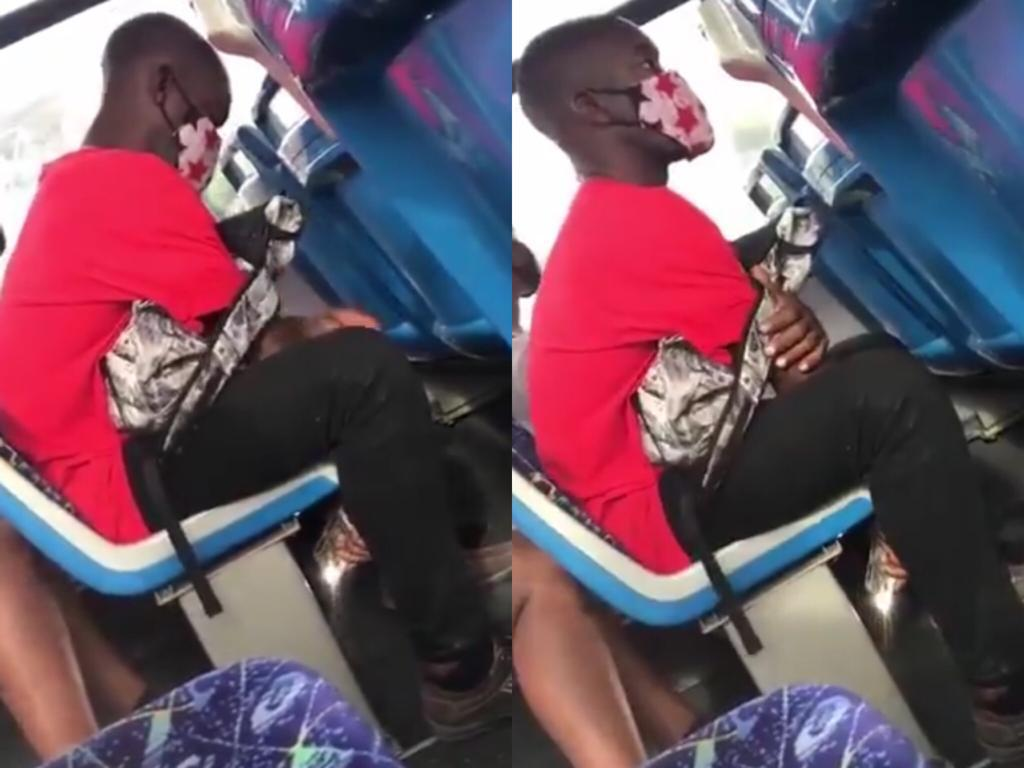 Video: Guy Caught taking video of a girl who opened her thighs at the back seat in public transport