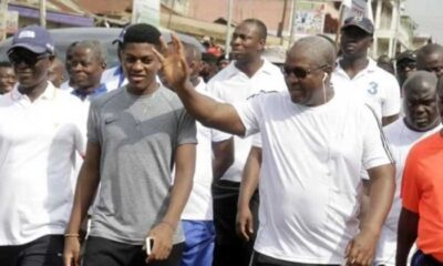 Adorable Video: Former President Mahama Beats His Son, Sharaf In Musical Chairs