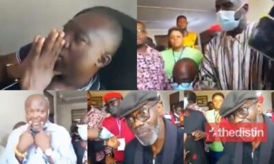 Video: NDC Leaders Storm Techiman South EC Office To Demand Pink Sheets, Watch What Happened