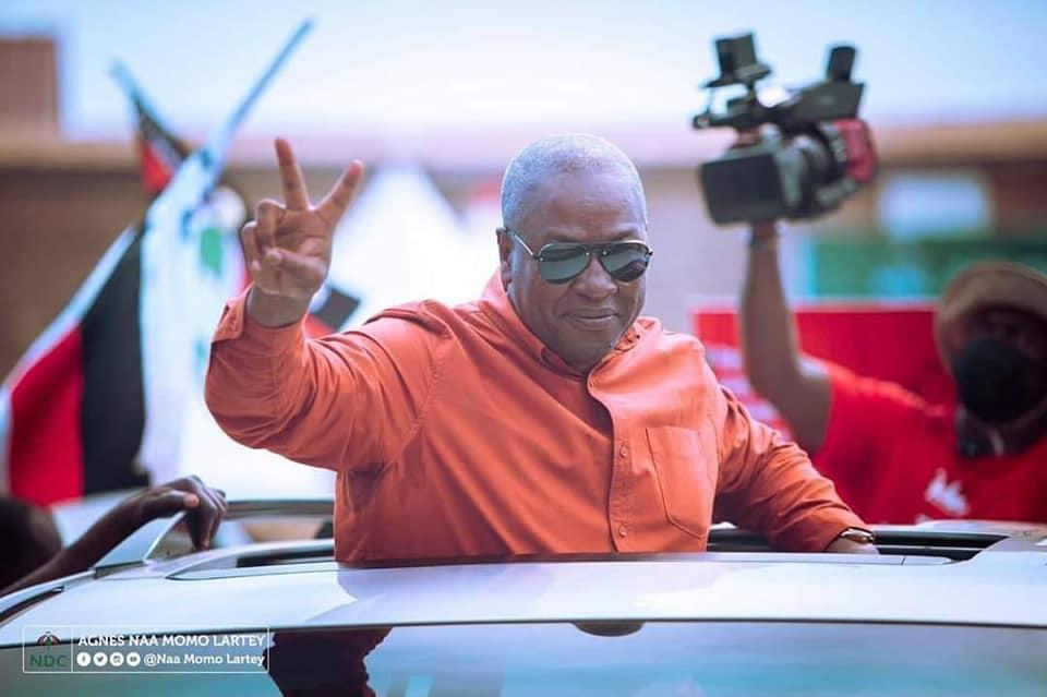 NDC Declares Mahama President Elect; To Address Nation 8PM Tonight